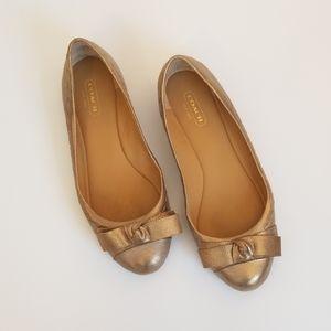 Coach Honey Bow Topped Ballet Flats, Size 7B